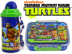 """Набор """"Ninja Turtles (Черепашки ниндзя)"""". Ланч бокс (ланчбокс) + бутылка с трубочкой"""