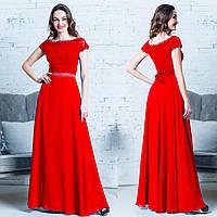 """Вечернее красное платье в пол, размер L """"Невада"""""""