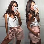 Женский комплект: майка и шорты из льна (2 цвета), фото 6