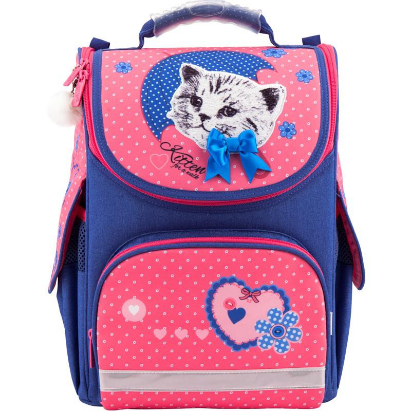 Рюкзак школьный каркасный Kite 2018 Pretty kitten K18-501S-7
