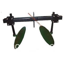 Окучник дисковый для мотоблока на двойной сцепке (ф дисков 410 мм) Агромарка
