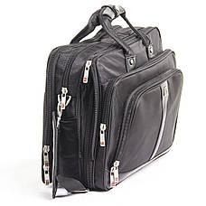 Сумка для ноутбука BAOHUA с расширением, 4 отделения,  41х30х17(21) чёрная, ткань Карбон «Plain» кс0033А, фото 2