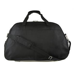 Дорожная сумка BagHouse (нейлон) большая 64х40х25 цвет чёрный  к 6068ч сер, фото 2