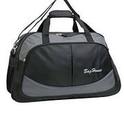 Дорожная сумка BagHouse (нейлон) большая 64х40х25 цвет чёрный  к 6068ч сер