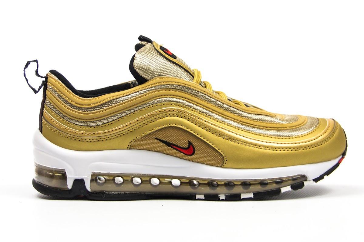 e246f3d2 Женские кроссовки Nike Air Max 97 (в стиле Найк Аир Макс) золото ...