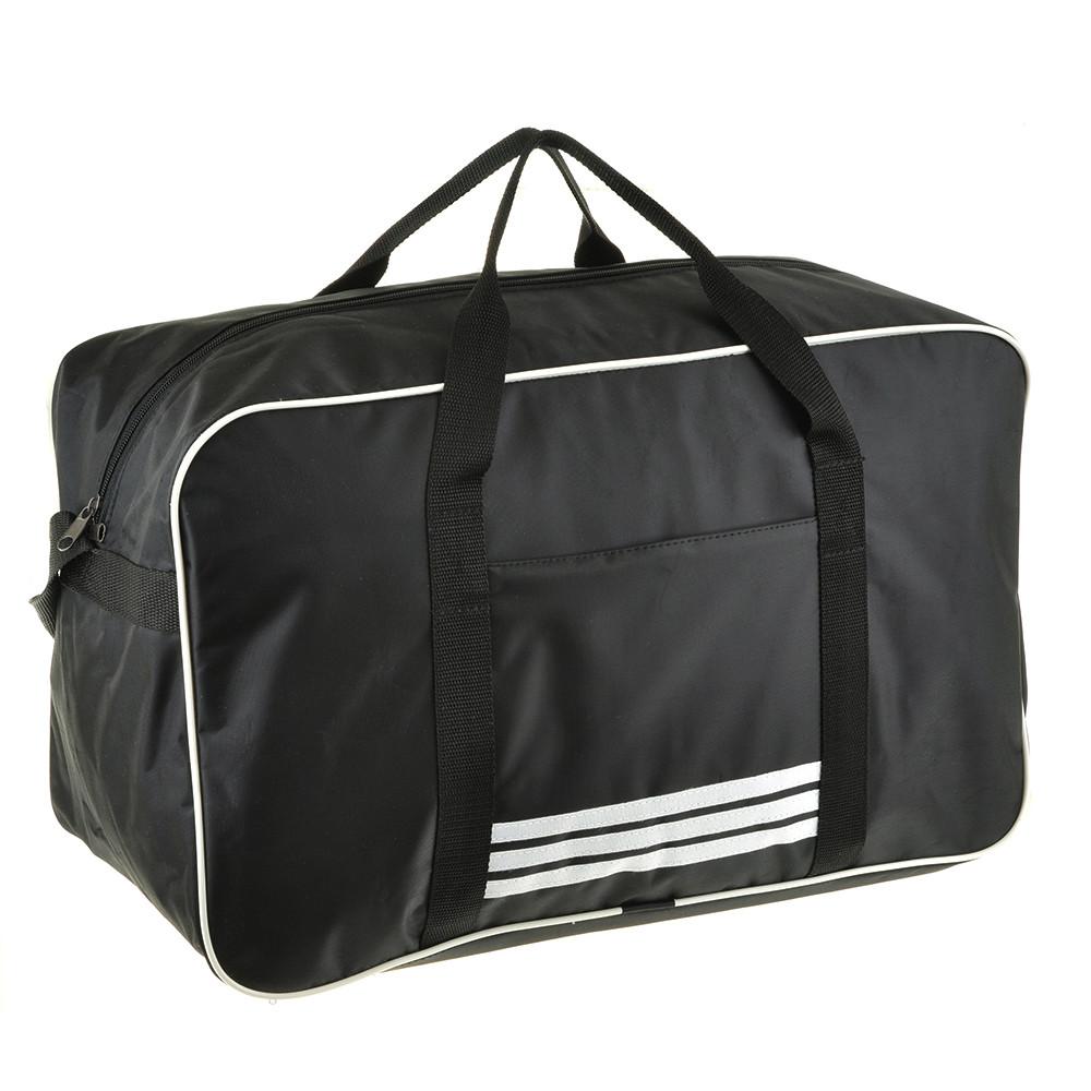 Дорожня сумка BagHouse 49х30х24 чорна нейлон 420Д, розмір середній пр2-9Ачбк