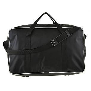 Дорожня сумка BagHouse 49х30х24 чорна нейлон 420Д, розмір середній пр2-9Ачбк, фото 2