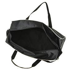 Дорожня сумка BagHouse 49х30х24 чорна нейлон 420Д, розмір середній пр2-9Ачбк, фото 3