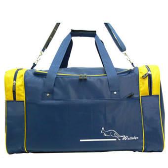 Дорожная сумка Wallaby большая 63х36х27 синяя нейлон в 430син ж, фото 2