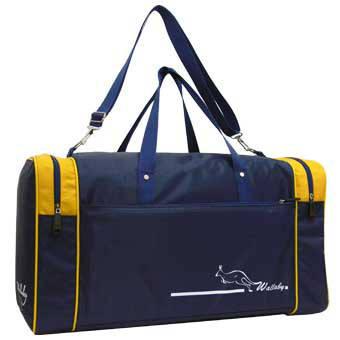 Дорожная сумка малая Wallaby 6+42+6х28х30 нейлон 420Д синяя  в 340син ж, фото 2