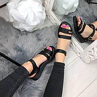 Жіночі сандалії чорні, фото 1