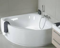 Установка акриловой ванны угловой