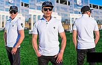 Мужская футболка Поло (белый)