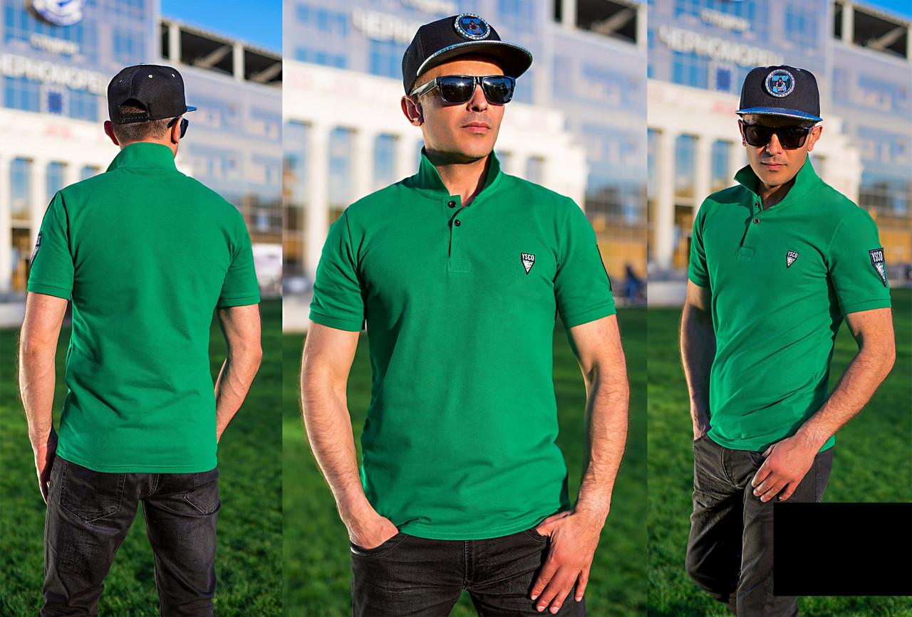 Мужская футболка Поло (зелёный)