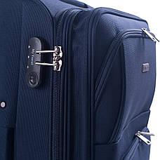 Чемодан большой MY TRAVEL синий с расширением  ксА-190-28син, фото 3