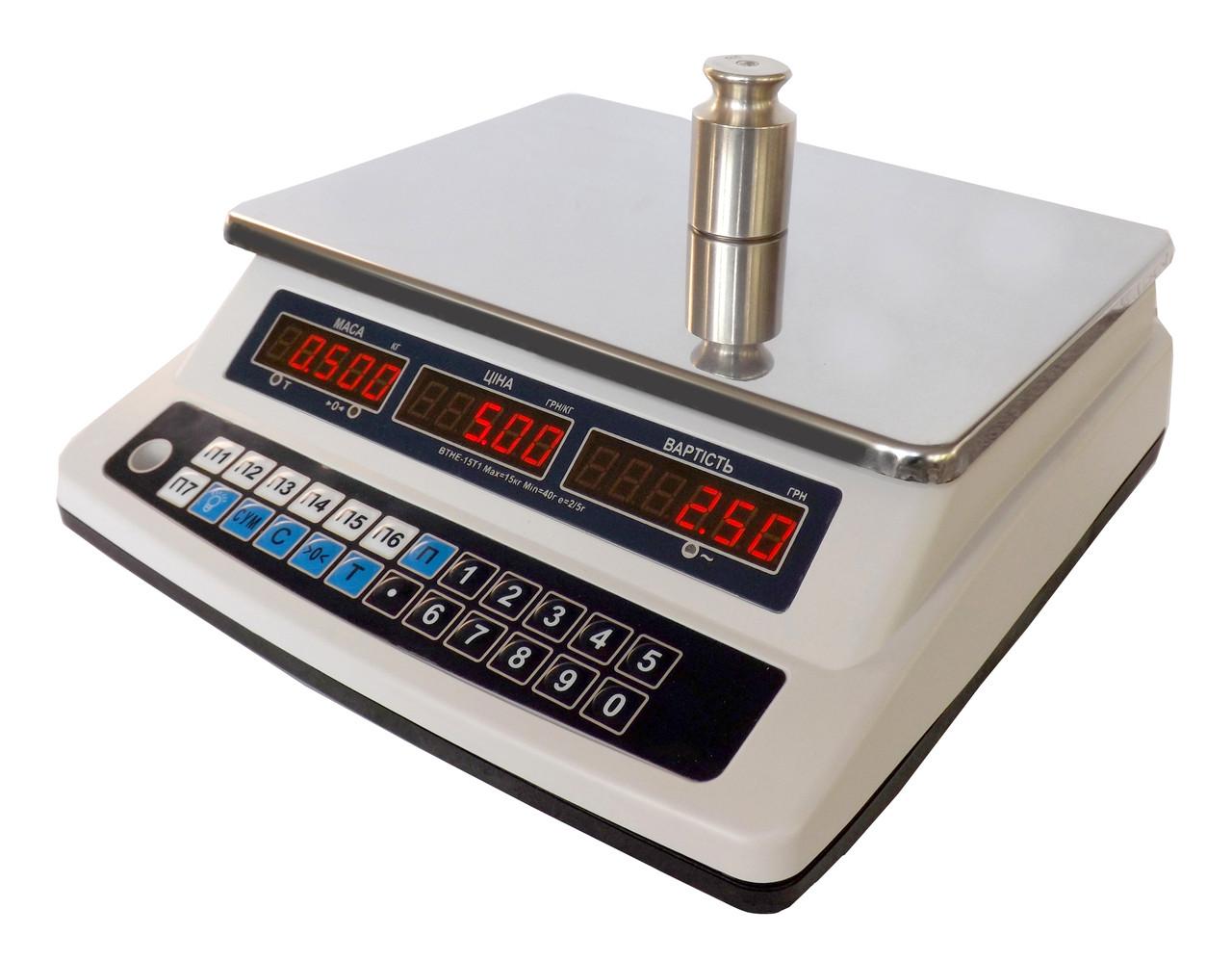 Весы торговые электронные ВТНЕ-15Т1 - Компания УкрВесы [Ukrvesi] в Днепре