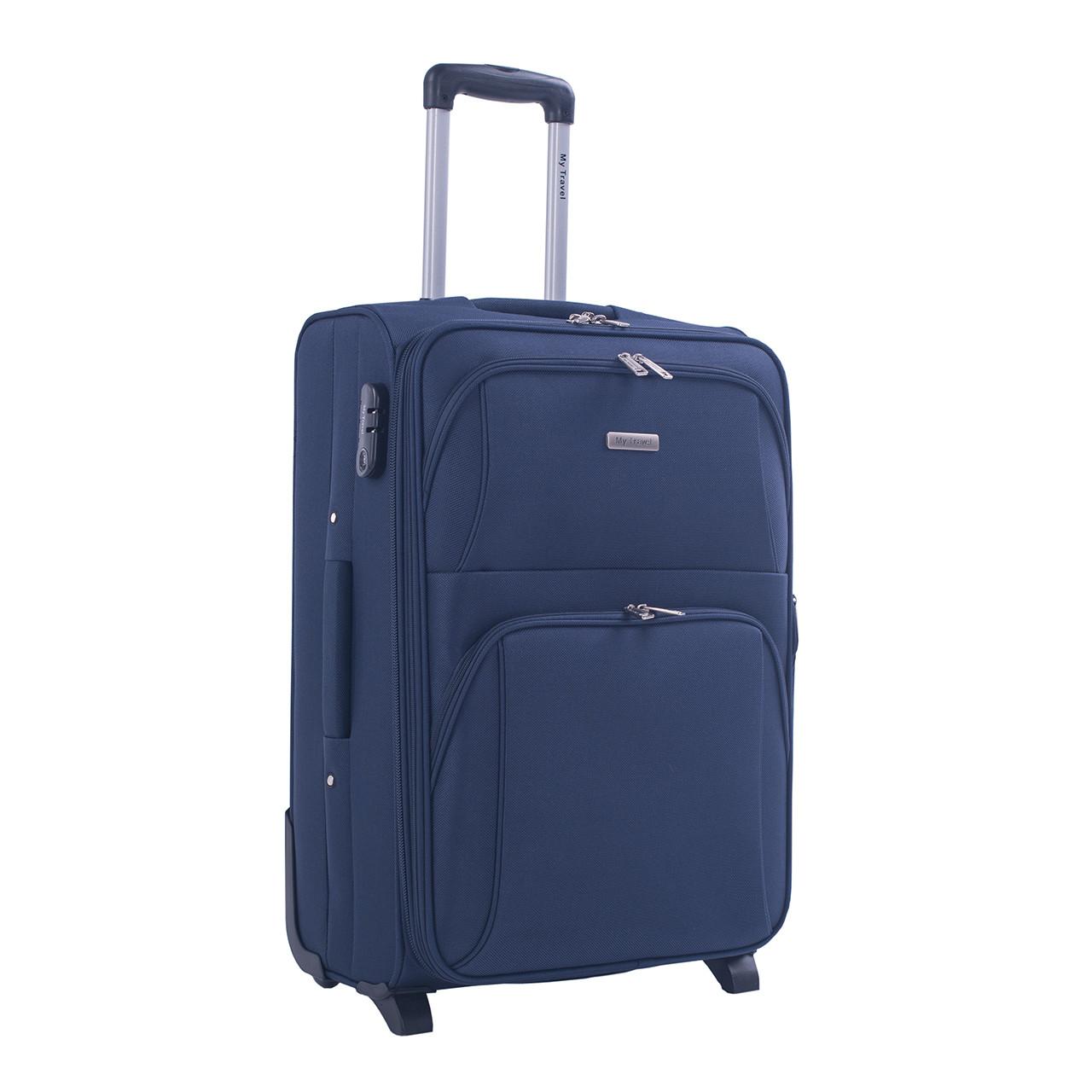 Чемодан средний MY TRAVEL синий с расширением  ксА-190-24син