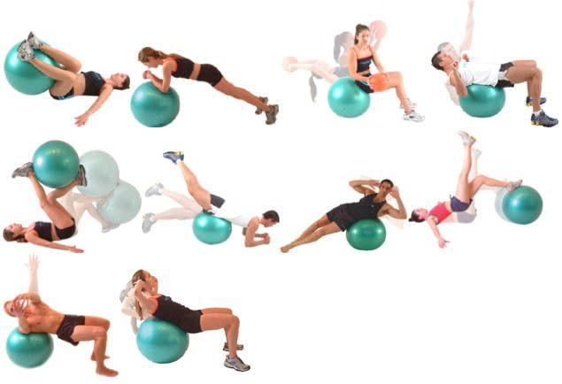 Мяч для фитнеса Powerball разноцветный d=65см 407660