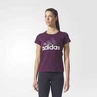 Женская футболка Adidas Essentials Linear(Артикул:BR2563)