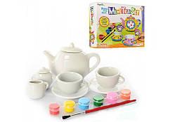 Набор для творчества: посудка (фарфор) и краски Mini Tea Set