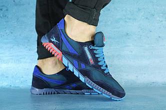 Кроссовки мужские реплика Reebok синий+голубой 10202