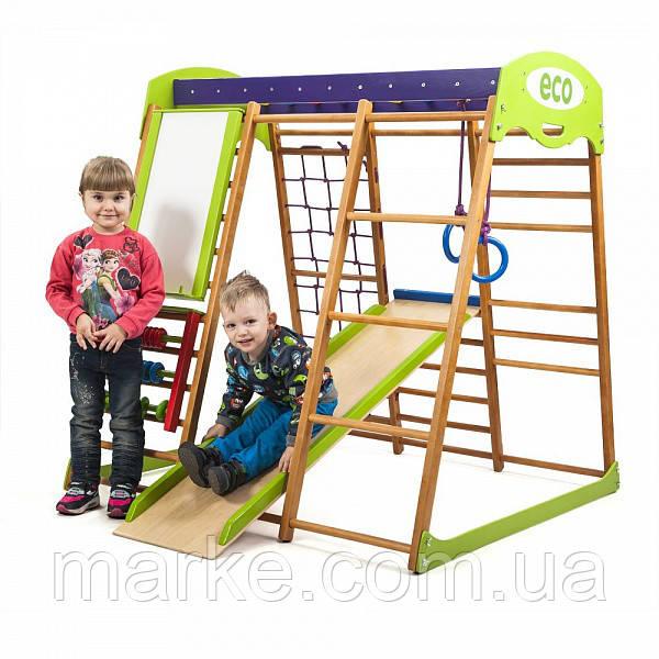 Детская Шведская стенка для квартиры «Карамелька» ( спортивний куточок )