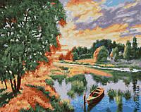 Картина по номерам Лодка на пруду