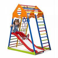 Детский спортивный комплекс KindWood Color Plus 1 ( спортивний куточок )