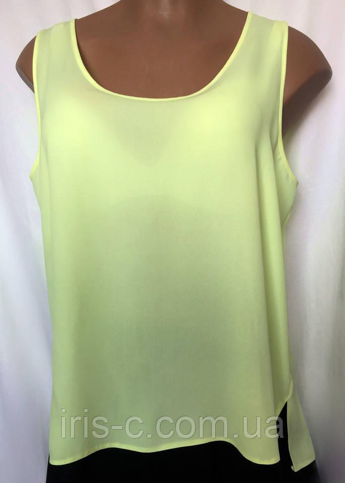 Женская блуза туника из мягкого, тонкого шифона, очень большой размер 54/56