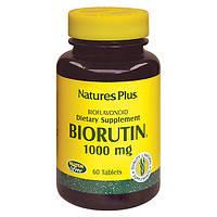 Рутин 1000мг, BioRutin, Natures Plus, 60 таблеток