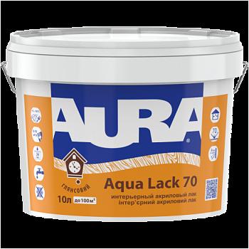 Водоразбавимый панельный интерьерный глянцевый лак AURA Aqua Lack 70, 2,5л
