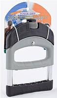 Эспандер кистевой силовой PS HG-101(A) (жесткий, метал.пружина, d-2,5мм, ручка пластик,рег.нагрузка)
