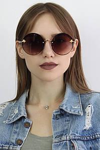 Солнцезащитные женские очки копия Gucci 386 коричневые