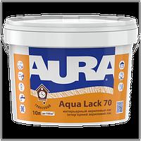 Водоразбавимый панельный интерьерный глянцевый лак AURA Aqua Lack 70, 10л