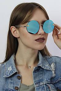 Солнцезащитные женские очки копия Gucci 386 синие
