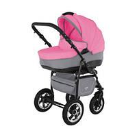 Универсальная коляска Adamex Nitro 4M серая+розовая