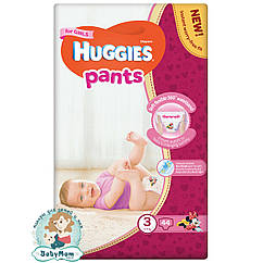 Подгузники-трусики Huggies Pants для девочек 3 (6-11 кг), 44 шт.