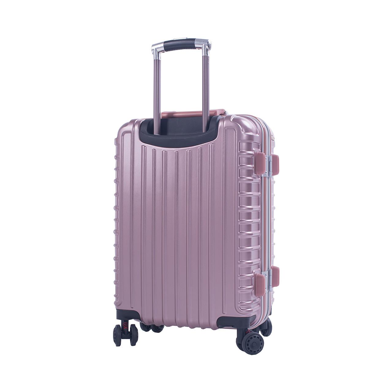 Чемодан пластиковый BagHouse 4 колеса, цвет розовый 47х66х32 кс801броз