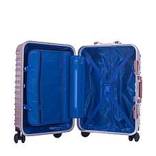 Чемодан пластиковый BagHouse 4 колеса, цвет розовый 47х66х32 кс801броз, фото 3