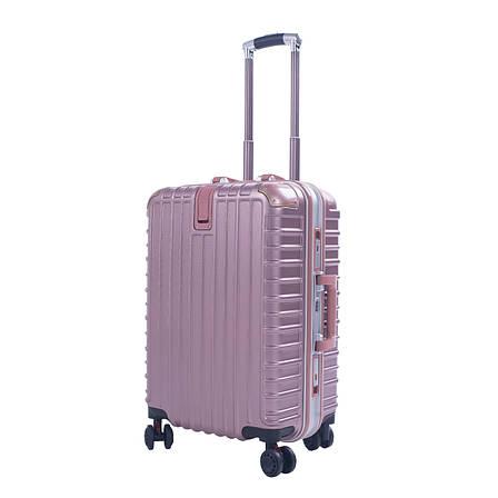 Валіза 4 колеса Baghouse пластиковий 39х55х27, колір рожевий кс801мроз, фото 2