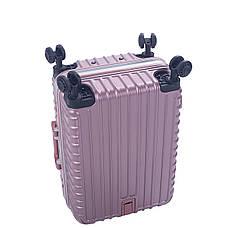 Валіза 4 колеса Baghouse пластиковий 39х55х27, колір рожевий кс801мроз, фото 3