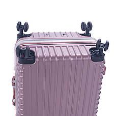 Чемодан 4 колеса Baghouse пластиковый 39х55х27, цвет розовый кс801мроз, фото 3