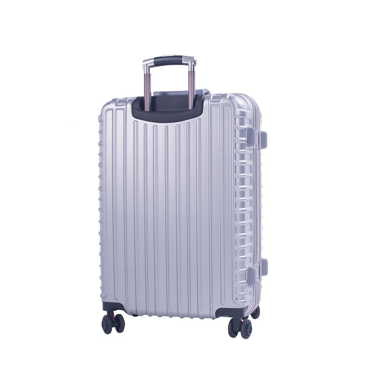 Чемодан BagHouse пластиковый 4 колеса 47х66х32, цвет серый  кс801бсер