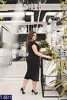 Вечернее платье T-6511 (48-50, 52-54, 56-58) — купить Вечерние платья XL+ оптом и в розницу в одессе 7км