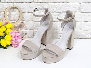 Босоножки женские замшевые на каблуке 11,5 см. Размер 36-40