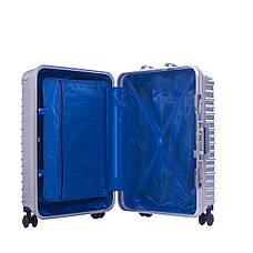 Чемодан BagHouse 4 колеса пластиковый, цвет серый 39х55х27 кс801мсер, фото 2