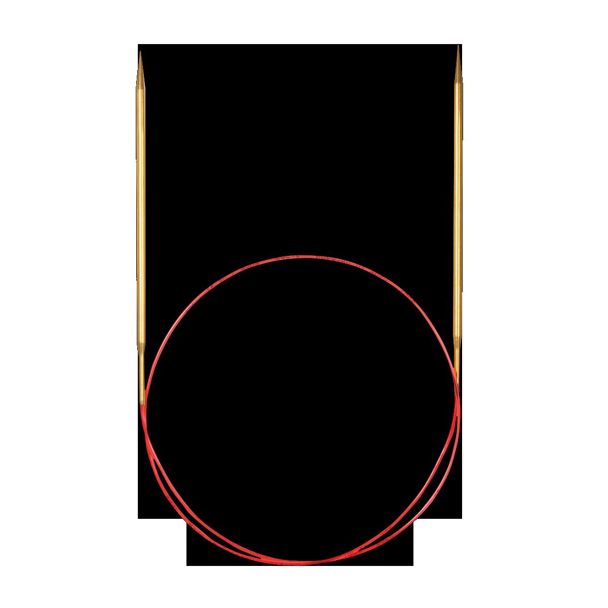 Addi Спицы круговые с удлинённым кончиком позолоченные 50см