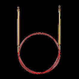 Addi спицы круговые с удлинённый кончиком позолоченный 100см