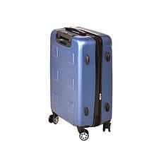Чемодан пластиковый LYS, средний с расширением 4 колеса 41х60х26(+4) синий ксЛ722-24гол, фото 2