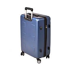 Чемодан пластиковый LYS, средний с расширением 4 колеса 41х60х26(+4) синий ксЛ722-24гол, фото 3